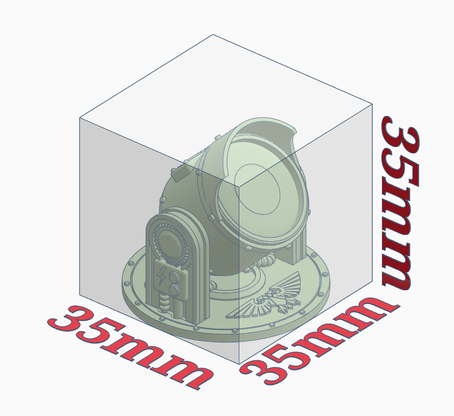 measurements.PNG Download free STL file Searchlight • Template to 3D print, SevenUnited