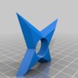 Download free STL file Ninja throwing star fridge magnet • Design to 3D print, SevenUnited
