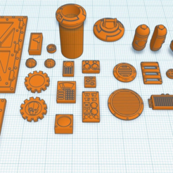 Overview.PNG Download free STL file Bitz for Scifi Buildings • 3D print object, SevenUnited