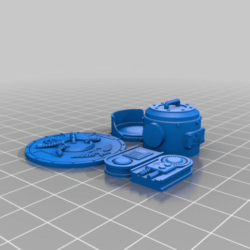 Light_Parts_complete2.png Download free STL file Searchlight • Template to 3D print, SevenUnited