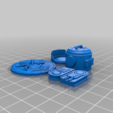 Light_Parts_complete.png Download free STL file Searchlight • Template to 3D print, SevenUnited