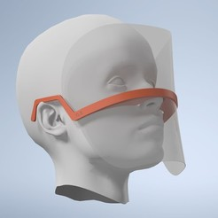 Download 3D printing models Visor C19, AF3D