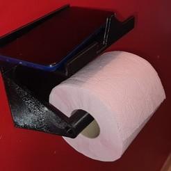 20200411_180901.jpg Télécharger fichier STL Dérouleur Papier WC /Toilet paper dispenser • Objet imprimable en 3D, olivhtc83
