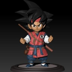 Download free STL Small Dragon Ball Goku, raul111