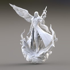 untitled.34.jpg Download STL file SEPHIROTH KINGDOM HEARTS • Template to 3D print, raul111