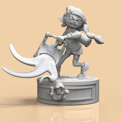 1.jpg Télécharger fichier STL INKLING GIRL SMASH MODEL 2 • Plan pour imprimante 3D, raul111