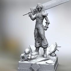 Descargar modelos 3D para imprimir Cloud Final fantasi 7, raul111
