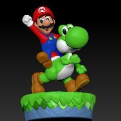 Descargar archivo 3D gratis Mario y Yosi, raul111
