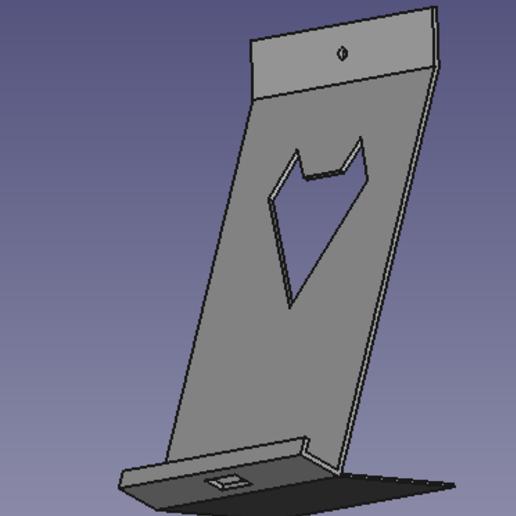 support_phone.png Télécharger fichier STL gratuit Support smartphone mural • Objet à imprimer en 3D, jfsalvo