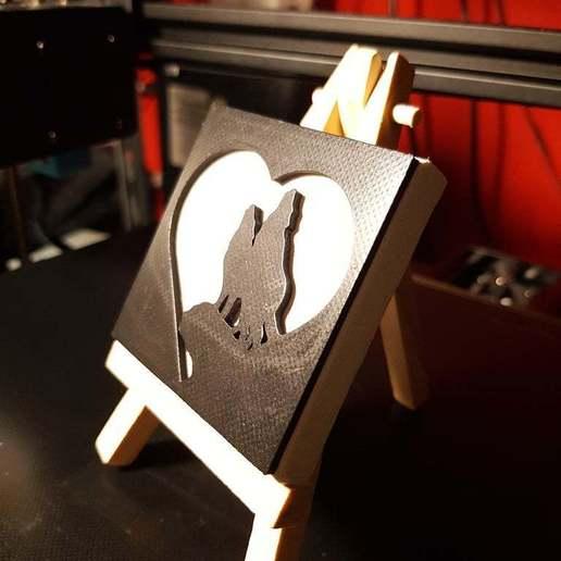 Télécharger fichier STL gratuit Des loups amoureux • Design pour imprimante 3D, rabotilnicata