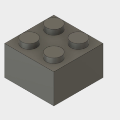 Block.PNG Download free STL file Fusion 360 2x2 Lego Block Generator • 3D printable object, Masterkookus