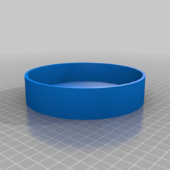 """flatbody_lid.png Download free SCAD file Rotating display """"flat"""" version • Object to 3D print, cavac"""