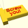 "Download free SCAD file ""Screw you!"" screw and nut set • 3D printer object, cavac"