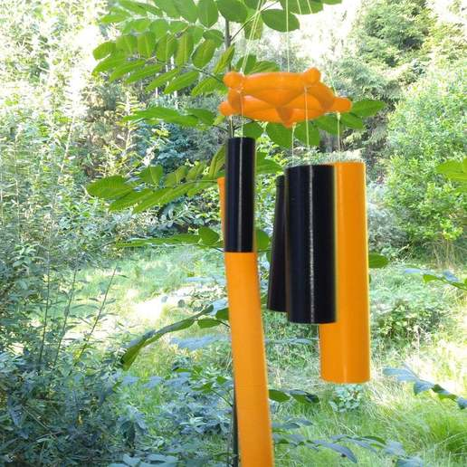 Download free SCAD file Wind chimes • 3D printing design, cavac