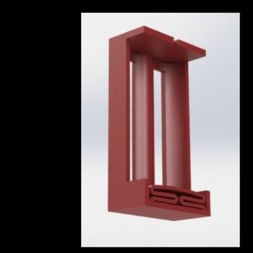 Porta Bateria 2x18650(1).JPG Télécharger fichier STL gratuit Porte-piles 2x18650 • Modèle imprimable en 3D, Ariel_Mendoza