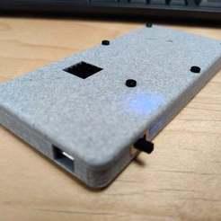 closedLid.jpg Download free STL file Flat Portable Raspberry Pi Zero Enclosure • 3D print object, tmcdonagh12