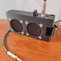 Télécharger fichier impression 3D gratuit Amplificateur de guitare portable à deux haut-parleurs, tmcdonagh12