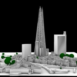 1-perpective.jpg Download STL file The Shard • Object to 3D print, nill_2020