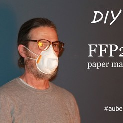 Imprimir en 3D gratis Máscara de papel FFP2, technopartageatelier