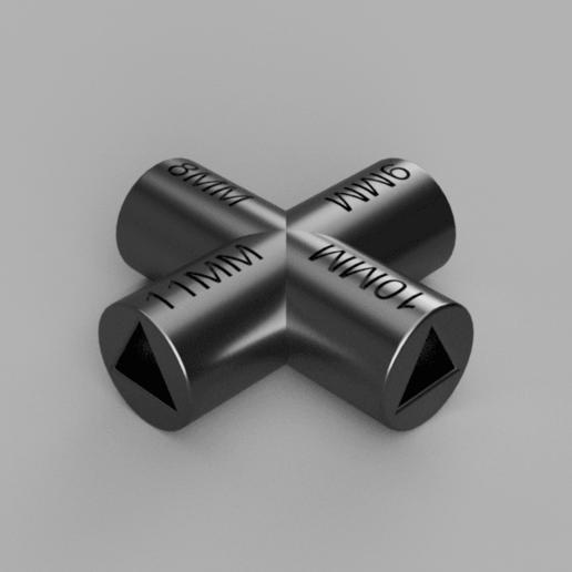 Clef Multipass 8-9-10-11MM v1.png Télécharger fichier STL gratuit MAGIK-TRASH3D - Clefs triangle pour poubelles recyclables jaunes  • Objet à imprimer en 3D, Bobypeche