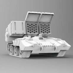 lrm.jpg Download free OBJ file Missile Carrier Tank • 3D print model, carl_s_z