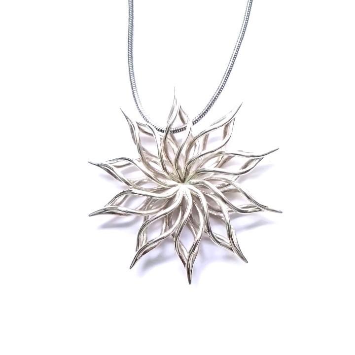 720X720-sunflower-pendant.jpg Télécharger fichier STL gratuit colgante muy realista no olvides like si te gusta • Objet imprimable en 3D, javiyvero1412122