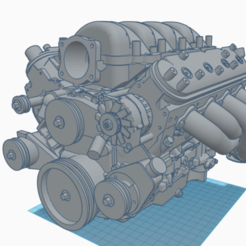 Download 3D printing files Chevy Camaro LS3 engine, Bullys_custom_model_parts