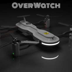 1.jpg Download STL file The OVERWATCH Drone • 3D printable design, Shadow15