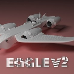 1.jpg Download STL file EAGLE V2 • 3D printable object, Shadow15