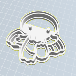 Happy Cthulhu.PNG Download STL file Cthulhu cookie cutter • Template to 3D print, gnvrgr
