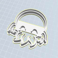 Cute Cthulhu.PNG Download STL file Cthulhu cookie cutter • Template to 3D print, gnvrgr