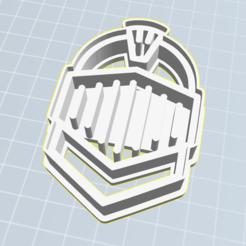 Knight helmet.PNG Download STL file Biscuit cutter paladin hull • 3D printable design, gnvrgr