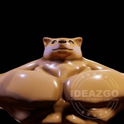 doge_2.png Download STL file Muscular Doge - Doge Musculoso • 3D printable template, Ideazgo