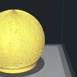 Download free 3D printer designs Moon Lamp, dan86