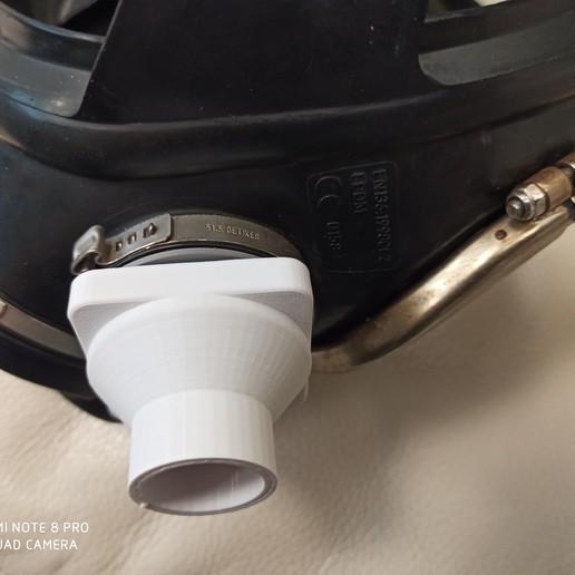 IMG_20200408_133032.jpg Download free STL file Mask connector Drager Ambu  • 3D printer model, rprzekop