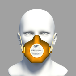 model12.PNG Download STL file PROTECTIVE MASK covid-19  • 3D printable template, edigitalmu
