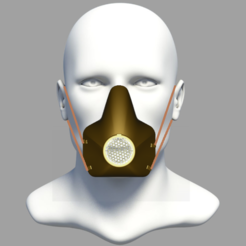 Cattura 2.PNG Download free STL file Protective Mask  3D printer • 3D printer object, edigitalmu