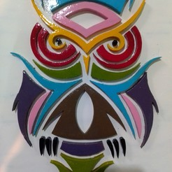 buho.jpg Download STL file owl table 3d • 3D printable template, henpnoriega