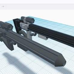 E_11_s_no1.jpg Télécharger fichier STL gratuit Sniper Blaster E-11s • Design pour imprimante 3D, benjaminburton512