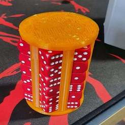 Download free 3D print files Chessex 12mm 36 D6 dice holder V2, evilplushie