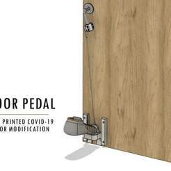 door_pedal_title_2.jpg Download free STL file Door Pedal: A 3D Printed COVID-19 Hands-Free Door Opener • Model to 3D print, AIDesign