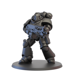 2.png Download free STL file Primary Space Warrior Rifleman • Model to 3D print, jonethealliance