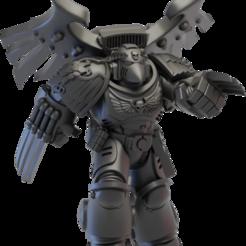 shrike_main.png Télécharger fichier STL gratuit Magpie Guardian Avenger • Design imprimable en 3D, jonethealliance