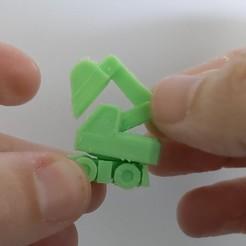 Télécharger fichier 3D gratuit Oeuf surprise #4 - Petite excavatrice, Spozz21
