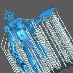 sarg.JPG Télécharger fichier STL gratuit Bonus de 100 suiveurs - Dark Knight Sergant (pré-soutenu pour la résine) • Objet imprimable en 3D, Supporter
