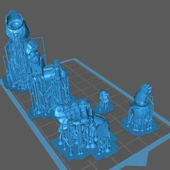Download free STL file SPACE WARRIOR WITH A BIG FIST (Pre-Supported for resin) • 3D print template, Supporter