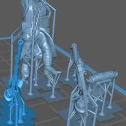 Download free 3D printing templates 28MM TRENCH FIGHTER (Supported), swkrawczyk