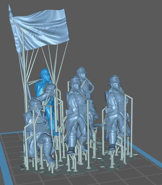 28mmtenchset2.JPG Télécharger fichier STL gratuit 28 millions de dollars pour l'ensemble des combattants de la transe (avec soutien) • Design pour imprimante 3D, Supporter