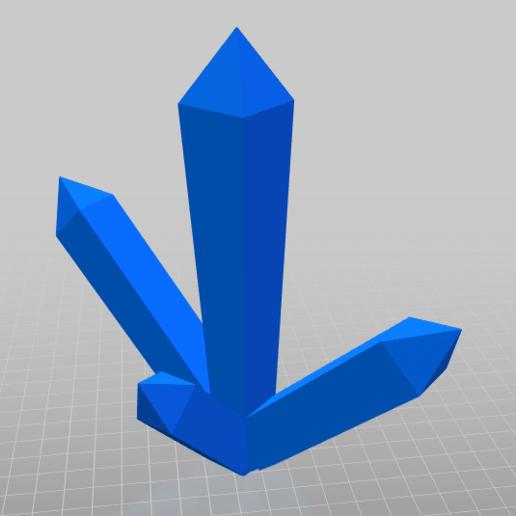 Télécharger modèle 3D gratuit Cristaux, Pikac