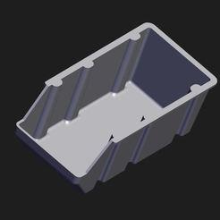 Capture.JPG Download STL file Storage bin rack V2! • 3D print model, Pikac